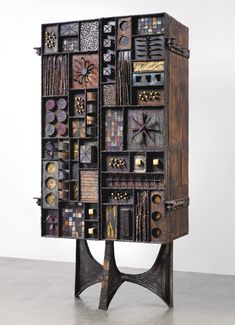 Paul Evans; Lacquered and Gilt Steel Cabinet for Paul Evans Studios, 1969.