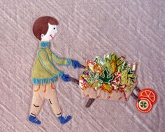 Let's Go Apple Picking. Original Applique Quilt Pattern designed by Allison Rosen from Within A Quarter Inch