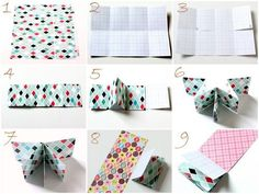 "Create a mini album using one piece of 12"" by 12"" paper! Cool..!"