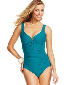 Miraclesuit Ruched One-Piece Swimsuit-my new favorite swimsuit!