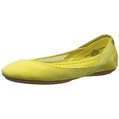 EASY SPIRIT Womens Yughe Yellow Ballet Flats 6.5 Extra Wide (WW) NWOB MSRP $79