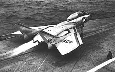 In the Beginning, the F7U Cutlass was the first twin engine Jet with afterburners to be launched from the flight deck - they were not prepared. The first launch...