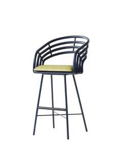 DH: This is a cool barstool. It's got an appealing slouchiness, especially from the side, and I like the colors. It's also one of the most comfortable stools I've ever sat on. BB: Yes, it's a good height, and it even gives a little when you lean back. I like the way the arc of the back sort of hugs your body. Rattan takes on color really well, and this comes in more than 30 shades. $1,560; davidfrancisfurniture.com   - ELLEDecor.com