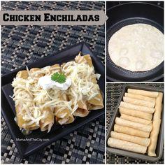 YUM---> WhyFakeItJustMakeIt: Chicken Enchiladas Swiss Style