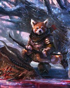 2D Art: Azan The Archer - 2D Digital, FantasyCoolvibe – Digital Art #fantasy #fox #archer