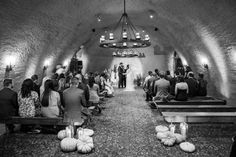 Photography : Sylvie Gil Photography Read More on SMP: http://www.stylemepretty.com/2016/04/27/wedding-set-in-a-candlelit-wine-cave/