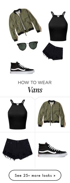"""""""Da bomber jacket"""" by laurend24-1 on Polyvore featuring Vans, Hollister Co. and Spitfire"""