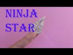 origami money ninja star gấp phi tiêu của ninja = tiền | xếp tiền giấy - YouTube Origami Human, Origami T Rex, Origami Logo, Origami And Quilling, Dollar Origami, Money Origami, Origami Letter, Animaux