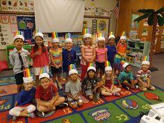 Mrs. Vento's Kindergarten: Beginning of the year rainbow hat