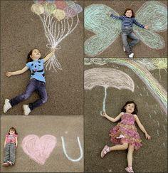 Fun with sidewalk chalk