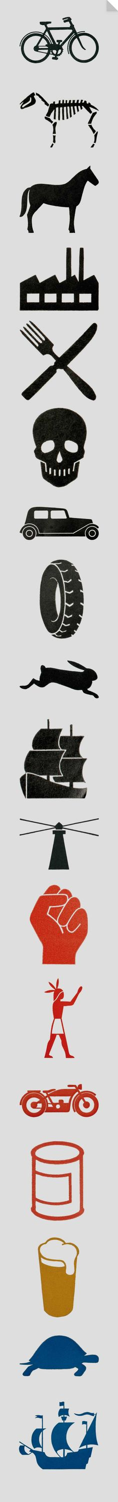 Gerd Arntz was a German modernist who created over 500 icons, or isotypes, with… Logo Design Love, Icon Design, Branding Design, Web Archive, Graphic Design Lessons, Brand Icon, Clear Communication, Data Visualisation, Photoshop