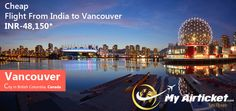 Vancouver in CANADA.. #travel #flights #airfare #airline #Dallas #India #airtickets #Newyork#international #myairticket #Cheapest  http://www.myairticket.com/myairticket/india.php