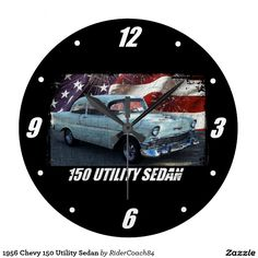 1956 Chevy 150 Utility Sedan Large Clock