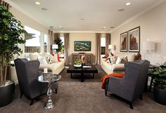 Live in style in this Colina Plan 2 living space! | by SheaHomesNoCal #livingroom