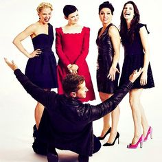 Behold the fairest ladies of Once Upon A Time . . . and Josh Dallas