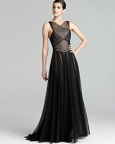 ABS by Allen Schwartz Crisscross Draped Gown   Bloomingdale's