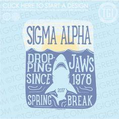 Sigma Alpha | ΣA | Spring Break | Spring Break Shirt | Spring Break Tank | TGI Greek | Greek Apparel | Custom Apparel | Sorority Tee Shirts | Sorority T-shirts | Custom T-Shirts