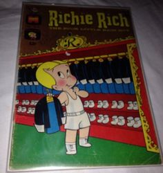 Richie Rich #57 (May 1967, Harvey Comics Atoman Appears W/ Board & Bag  | eBay