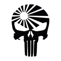 Punisher Skull Flag Decal 5 5 Inches Premium Quality