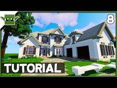 Minecraft Mansion Tutorial - (How to Build a House in Minecraft). Can You Build A House For Minecraft City Buildings, Minecraft Castle, Minecraft Plans, Minecraft Houses Blueprints, Minecraft Architecture, Cool Minecraft Houses, Minecraft Home, Minecraft Stuff, Minecraft Crafts
