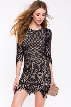 Платье кружевное Размеры: M, L Цвет: черный Цена: 2550 руб.  #одежда #женщинам #платья #коопт