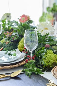 Vegetable Table Centerpiece