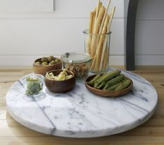 French Kitchen Marble Lazy Susan - Crate and Barrel French Country Kitchens, French Country Decorating, French Kitchen Decor, Kitchen Models, Kitchen Sets, Kitchen Goods, Chef Kitchen, Kitchen Stuff, Kitchen Design
