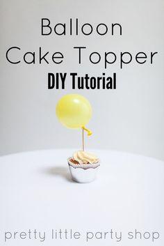 Balloon Cupcake Topper DIY Tutorial Diy Cake Topper, Cupcake Toppers, Party Shop, Diy Party, Balloon Hacks, Balloon Cupcakes, Party Suppliers, Party Hacks, Pretty Little