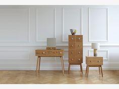 FLEUR NATURAL Wood Oak 1 drawer bedside unit - HabitatUK
