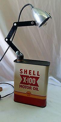 bidon shell x -100 lampe  steampunk  industriel garage loft
