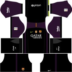 kit-barcelona-dls16-uniforme-goleiro-casa Barcelona Fc, Barcelona Soccer, Messi Boots, Goalkeeper Kits, Soccer League, Soccer Kits, Gabriel, Projects, Football Jerseys