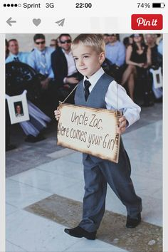 Ring Bearer. This is so cute and would be great if the family had only little gentlemen for the bridle party.