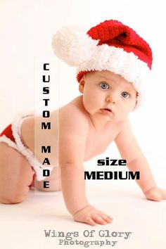 Baby First Christmas Outfit Santa hat elf by PlayingWithFiber, $59.99