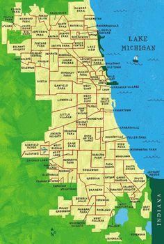 The neighborhoods of Chicago
