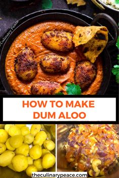 Looking for a restaurant-style recipe using potatoes? Try this Dum Aloo recipe which is an Indian potato curry made with baby potatoes slow-cooked in a creamy tomato onion gravy. This will surely end up being one of your favorite Indian side dishes with Roti, Naan, and Rice. #DumAloo #DumAlooRecipe #PunjabiDumAloo #IndianCurries Indian Side Dishes, Best Side Dishes, Side Dish Recipes, Aloo Recipes, Curry Recipes, North Indian Recipes, Indian Food Recipes, Vegetarian Curry, Vegetarian Recipes