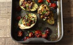 These soft baked avocados with fresh herbs, lemon and tomatoes are perfect for   a savoury breakfast or brunch