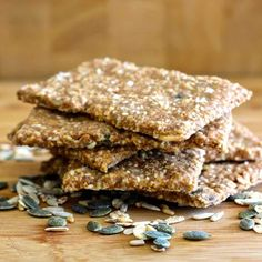 Knækbrød is a rye flour cracker with various seeds widely consumed in Scandinavia, as well as the Netherlands and the UK.