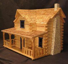 Popsicle Stick House Home Ideas Pinterest Popsicle Stick