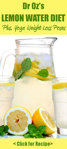 Dr Oz's Lemon Water Detox Diet is a great way to boost your weight loss & improve your overall health! Plus, yoga poses for extra weight loss (it only takes minutes each day!)