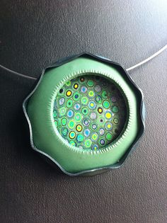 polymer clay pendant caleld Serendipity  by Boafrosh (Sally Weaser), via Flickr