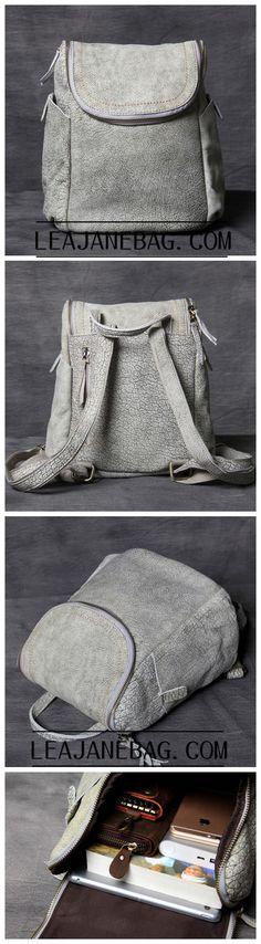 Leather Backpack, Laptop Backpack, Leather Handmade Backpack, Women Laptop Case OAK-061