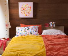 Gorgeous Rachel Castle bedding and artwork.