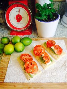Light snack with avocado,feta and tomato