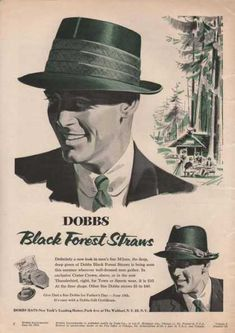 Clothes *Dobbs Black Forest Straws Mens Hat The Tim would luv this hat.Must go back to the habidashery soon! Vintage Outfits, Retro Outfits, 1950 Outfits, Vintage Clothing, Vintage Fashion 1950s, Vintage Fur, Vintage Style, Victorian Fashion, Americana Vintage
