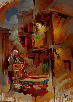 IRAQI PAINTER ALI NEMAH الفنان العراقي المبدع علي نعمة