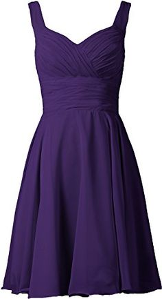 ANTS Women's V-neck Chiffon Bridesmaid Dresses Short Prom...