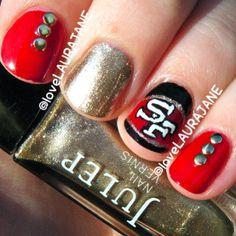 OH BABY! San Francisco 49ers nails!! | Nail Me Baby. | Pinterest
