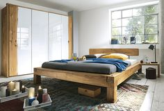 Stunning Doppelbett Madea Balkenbett massiv Eiche allnatura de