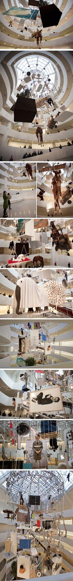Rétrospective Maurizio Cattelan au Guggenheim de New York - Journal du Design New York, Exhibition Space, Italian Art, Art Furniture, Land Art, Conceptual Art, Art Plastique, Bait, Exhibitions