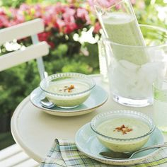 Zucchini-Potato Soup: a Southern twist on the classic potato-and-leek vichyssoise.